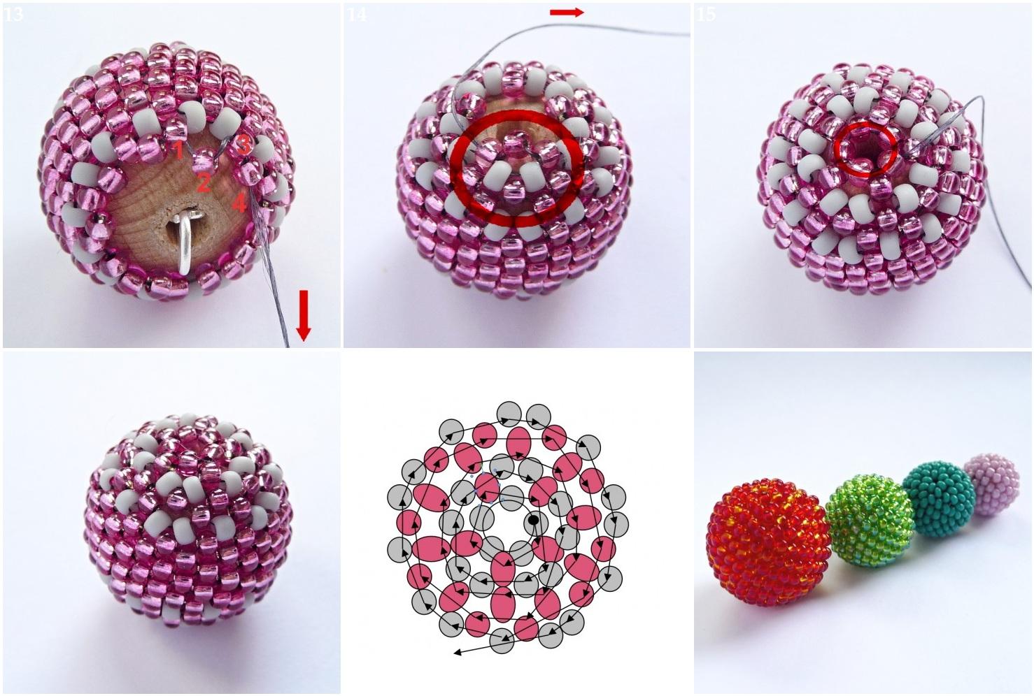 Как сделать шары из бисера фото