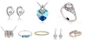 Бижутерия с кристаллами сваровски