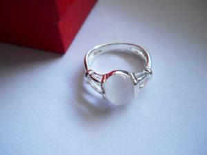 Кольцо из лунного камня Беломорит