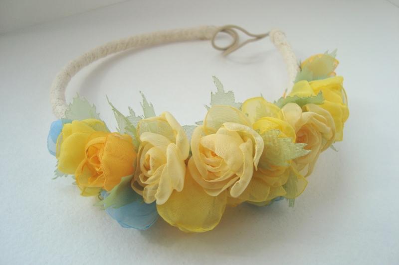 Цветы в голову из ткани своими руками мастер класс