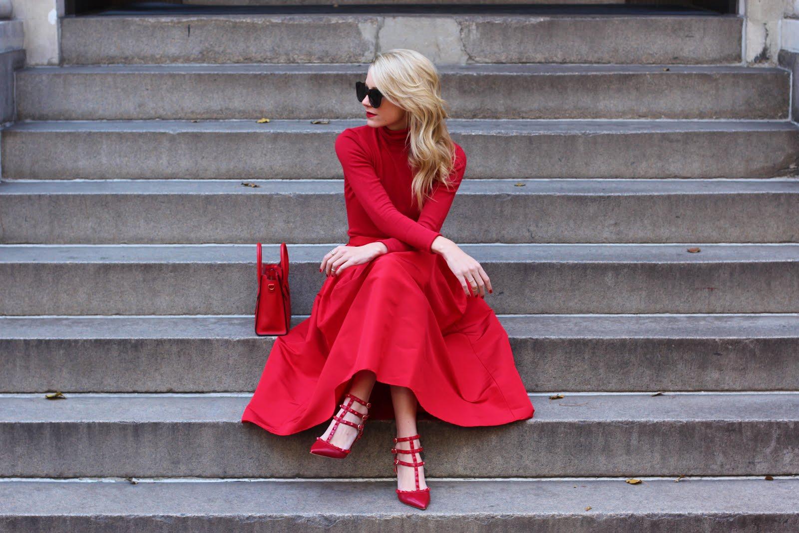 Красные платья для девушек