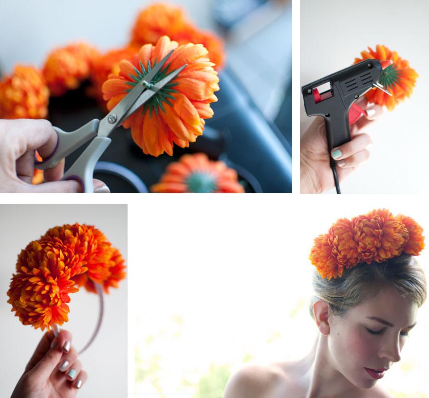 Как делать на ободок цветки своими руками