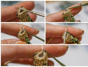 Вяжем жгут из бисера крючком схемы