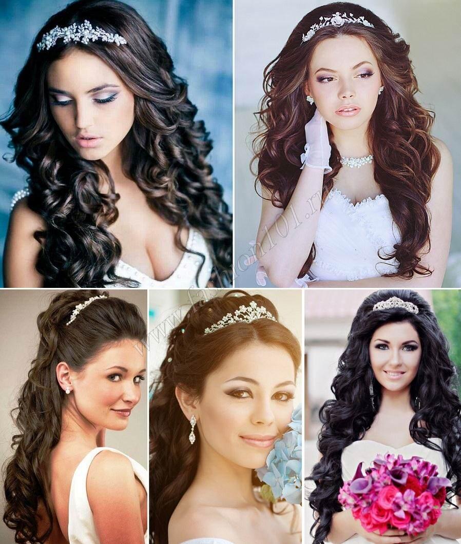 примеры свадебной прически на длинные волосы