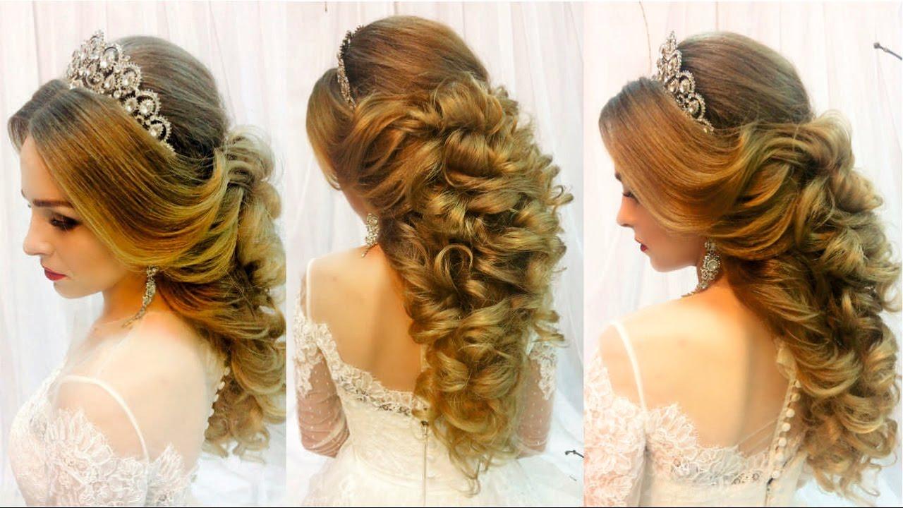 вечерние свадебные прически видео смотреть на средние волосы